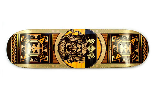 FUA Skateboard Deck Africa Series Lion | sun yellow 8.25