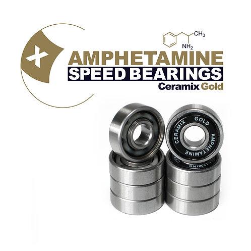 Amphetamine Skateboard Bearings Ceramics gold