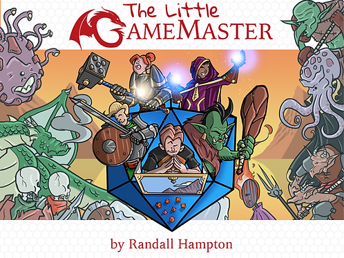 The Little Game Master (signed, Orig Illustration, and 4 bookmarks!)