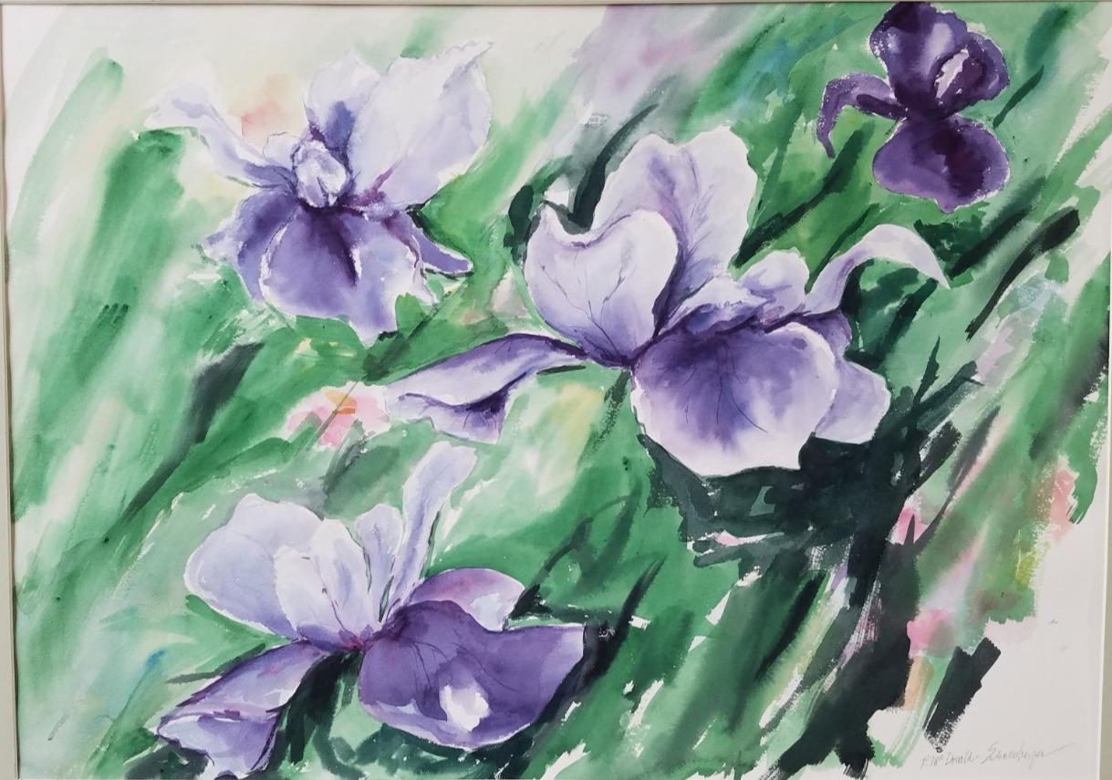 31) Purple Blossoms