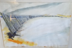9) Dunes and Fence (Double sided with The Dock..previous image)