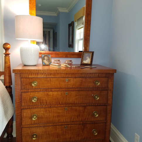 American Federal Tiger Chest of Drawers, c. 1815