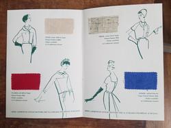 Irish linen Sample book interior