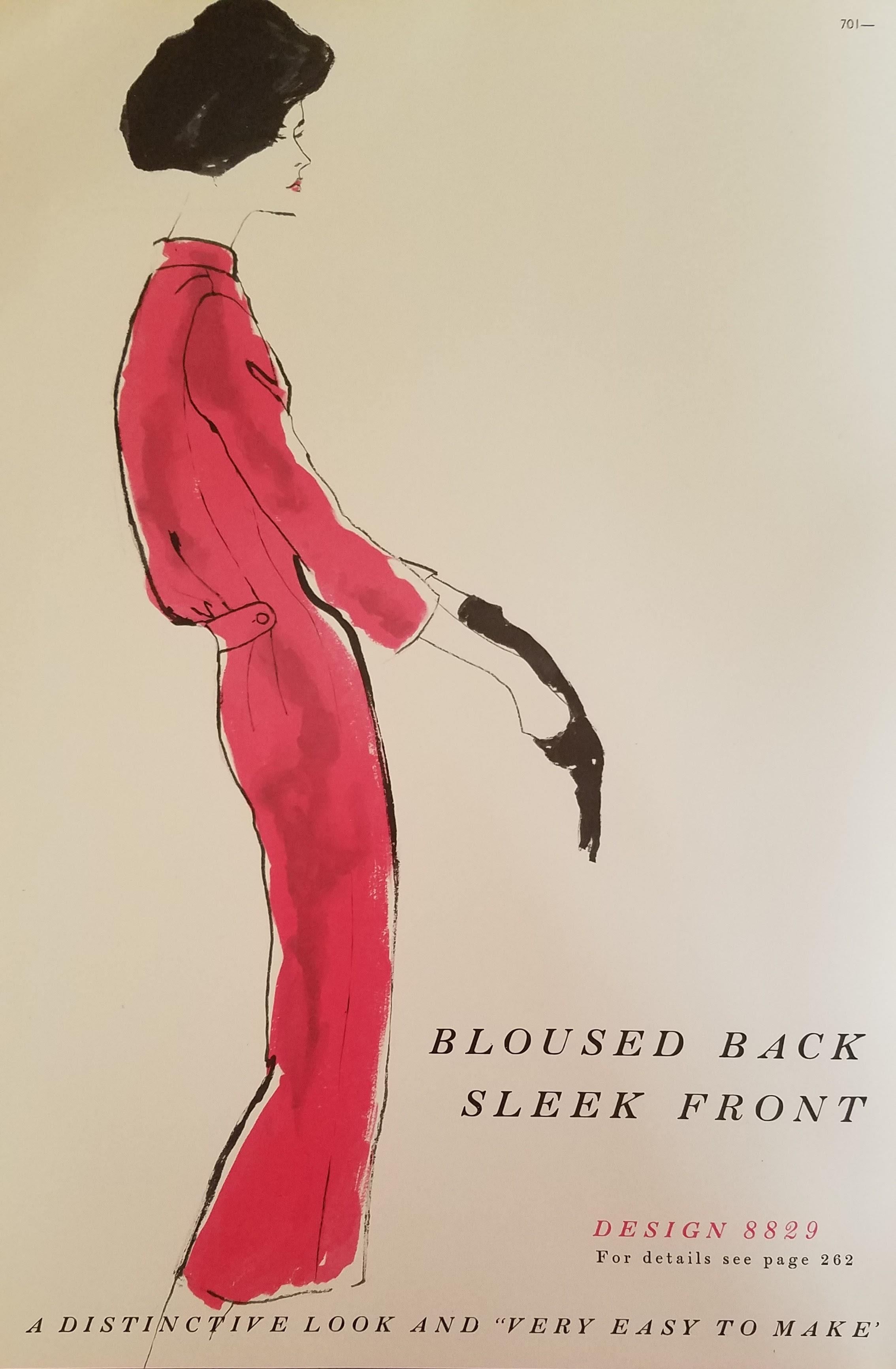 Bloused Back-Sleek front