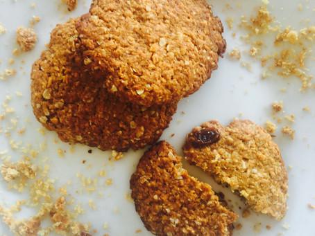 Υγιεινά μπισκότα με βρώμη
