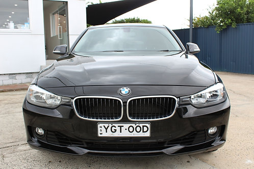 2012 BMW 320i F30 Black 8 Speed Automatic Sedan