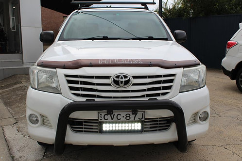 2014 Toyota Hilux TGN16R MY14 Workmate White 5 Speed Manual Dual Cab Pick-up
