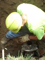 water sewer line installation