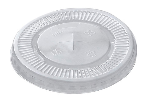 Biodegradable PET drink cup lid (Dia 85 Flat lid)