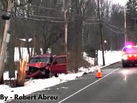 Orchard Park - Vehicle Strikes Utility Pole on Abbott Road.