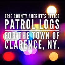 Erie County Sheriff's Office Patrol Logs for The Town of Clarence From 9/5 Through 9/11.