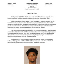 Police Make Arrest In Scrimmage Game Stabbing Investigation.