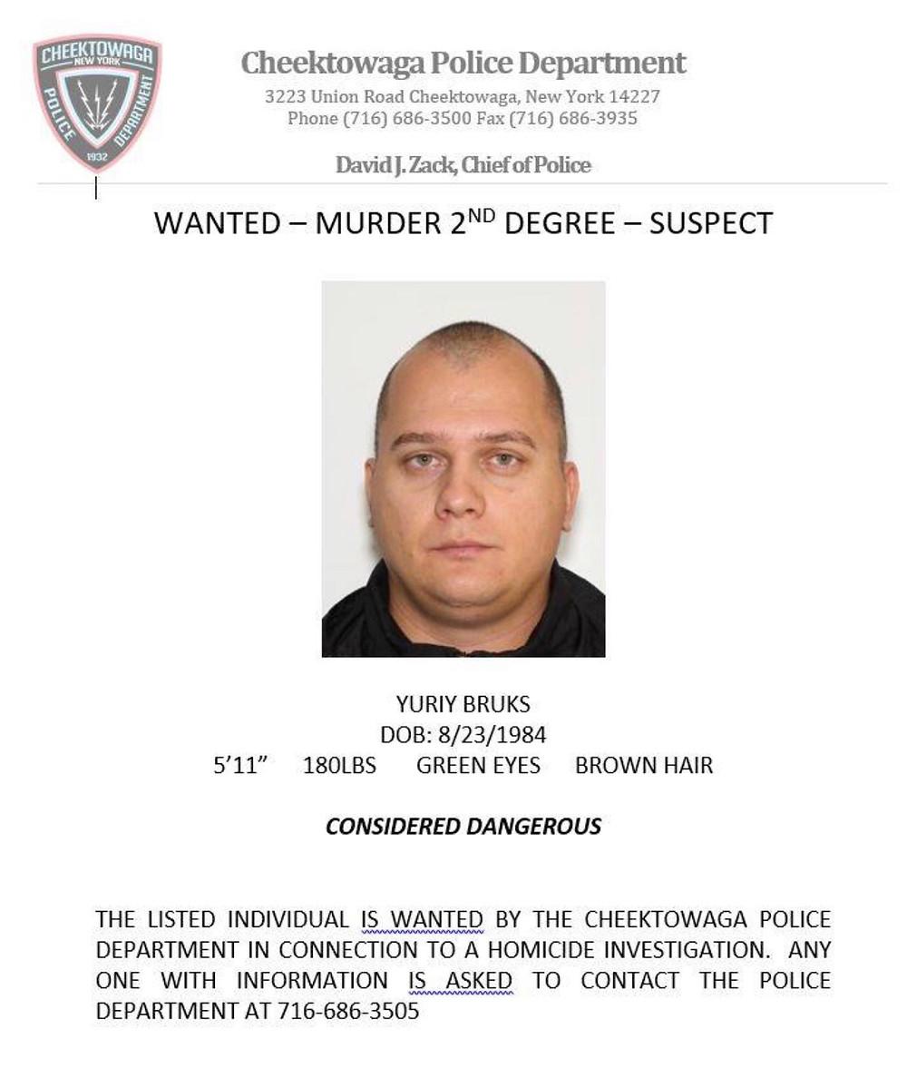 Yuriy Bruks has an active arrest warrant for Murder 2nd Degree for the killing of his wife, Tetiana Bruks.
