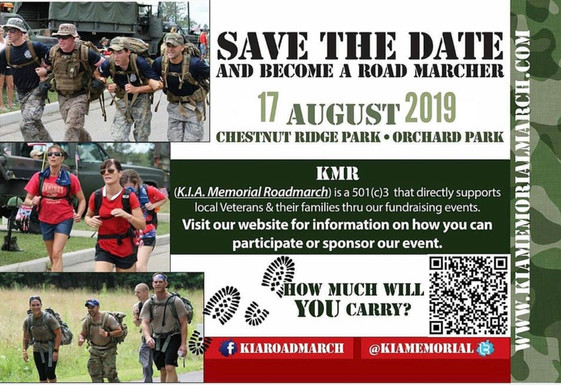 K.I.A. Road March. Aug. 17th. Sign Up Today!
