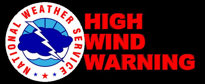 High Wind Warning in Effect