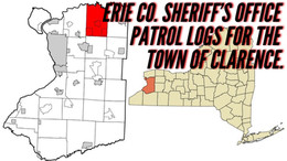 Erie Co. Sheriff's Office Patrol Logs for The Town of Clarence. 10/31 Through 11/06.