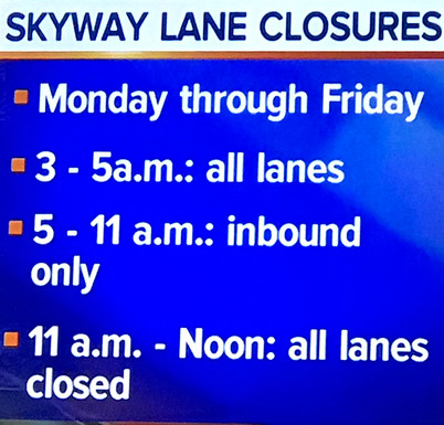 Skyway-Route 5 Closures