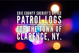 Erie Co. Sheriff's Office Patrol Logs for the Town of Clarence From Nov 7th Through Nov 13th.