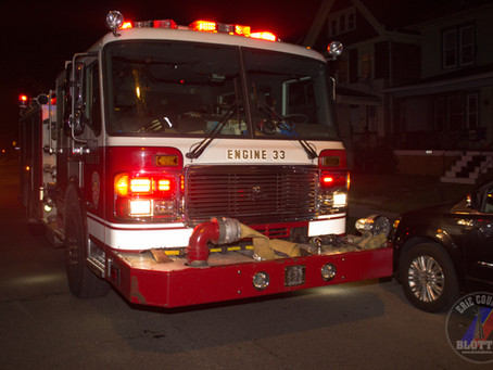 Buffalo - Small Fire Next To A Structure on Leroy Ave. July 4th.