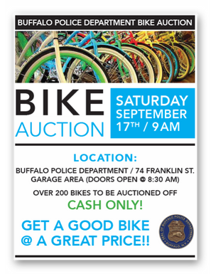 Buffalo Police Dept. Bike Auction
