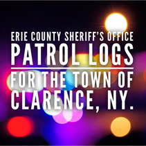 Erie County Sheriff's Office Patrol Logs for the Town of Clarence from Jan 2nd through Jan 8th.