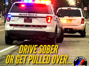 Erie Co. Sheriffs Office Will Be Conducting Roving DWI Patrols This Holiday Weekend.