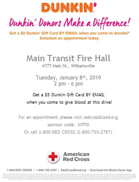 Main-Transit/Red Cross Blood Drive.