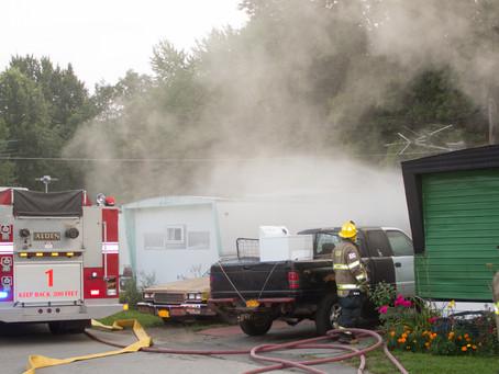 Alden - Structure Fire, Seabrook Dr.