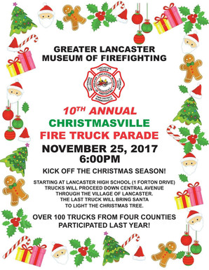 10th Annual Christmasville Fire Truck Parade. Nov 25th @ 6PM