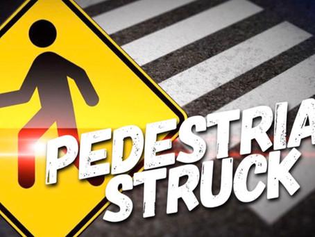 Pedestrian Struck By Auto.