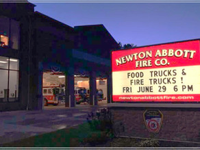 Food Trucks and Fire Trucks Sponsored by Newton Abbott Fire Co.