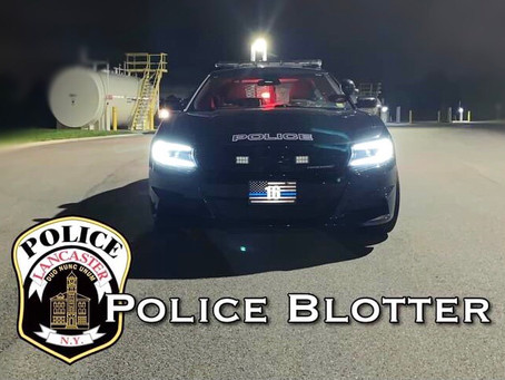 Lancaster Police Dept. Patrol Logs from Feb 24th Through March 1st.