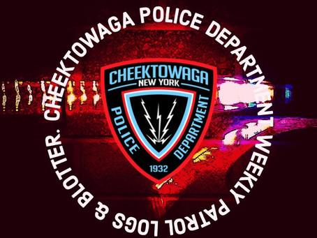 Cheektowaga Police Depart. Patrol Logs from Sept 13th Through Sept 20th.