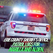 Erie County Sheriff's Office Patrol Logs For Alden and Marilla From Nov 21st Through Nov 27th.