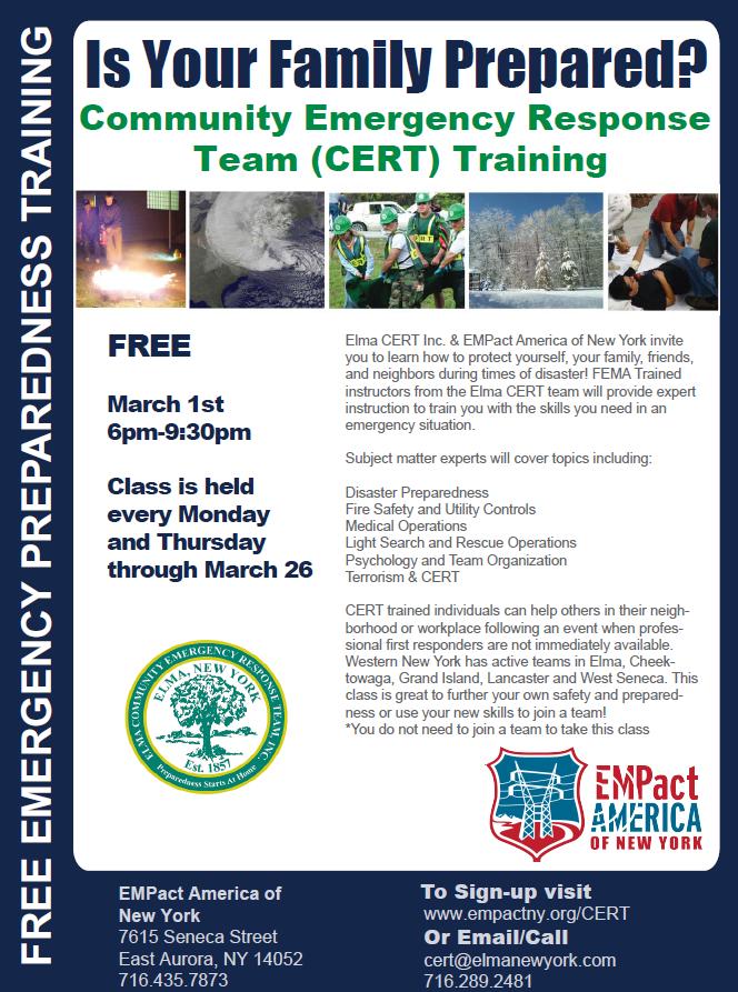 Emergency Preparedness and CERT Training by EMPact America