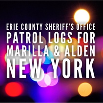 Erie Co. Sheriff's Office Patrol Logs For Marilla and Alden From 9/5 Through 9/11.