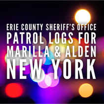 Erie County Sheriff's Office Patrol Logs for Marilla and Alden from Oct 10th Through Oct 23rd.