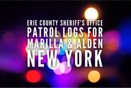 Erie County Sheriff's Office Patrol Logs for Marilla and Alden from Nov. 7th. Through Nov. 13th.