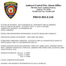 Ellicott Creek - Multi Residential Apartment Fire - 78 Sundridge Dr.