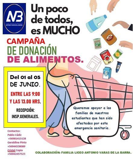 Afiche de campaña de alimentos LAVB 2020