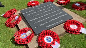 Prisoner of War memorial stone unveiled.