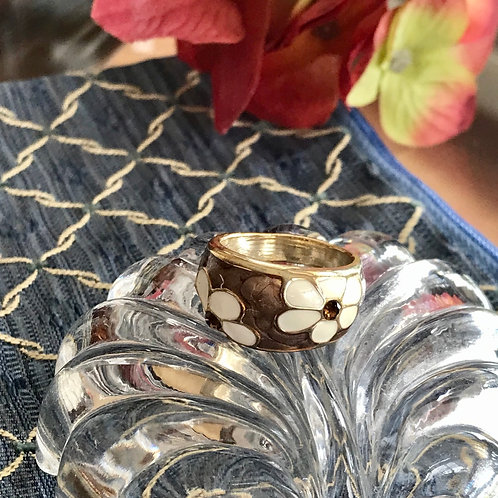 Fashion enamel ring size 7