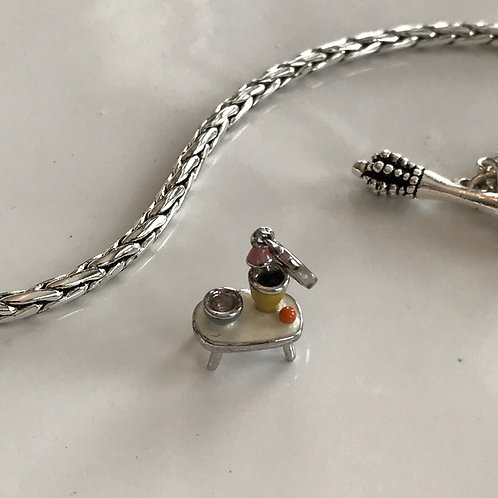 Chef table charm bracelet