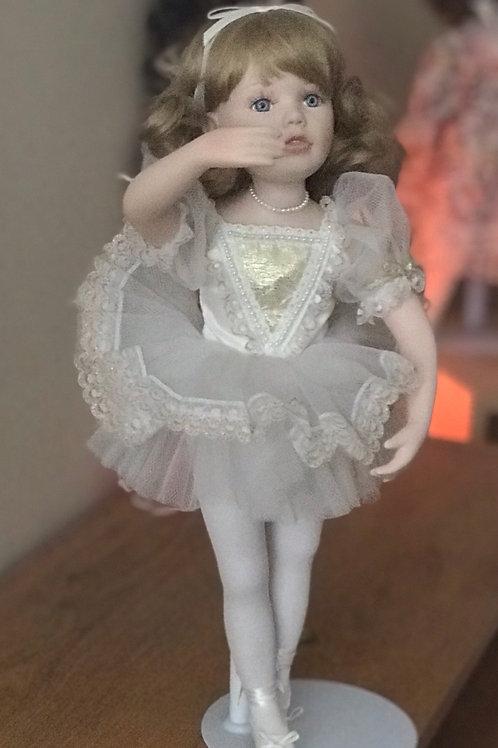 Beautiful detailed porcelain ballerina doll