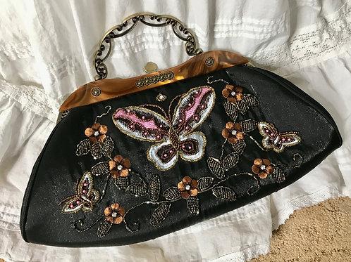 Vintage look beaded purse