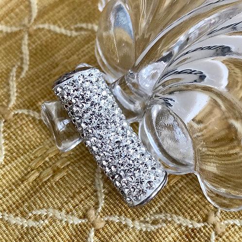 White Long Swarovski Crystal charm bracelet or pey