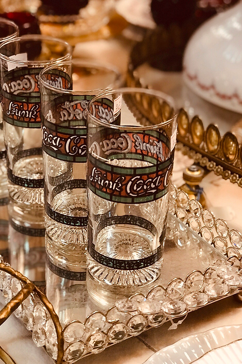 Retro Coca-Cola glass