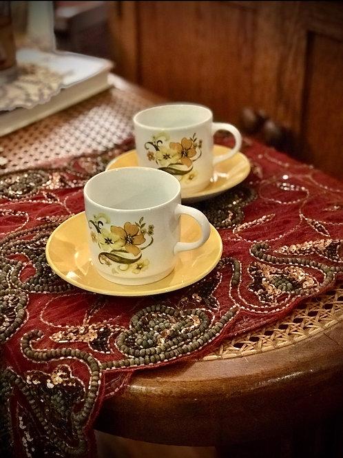 Tea Cup & Saucer ( set of 2)