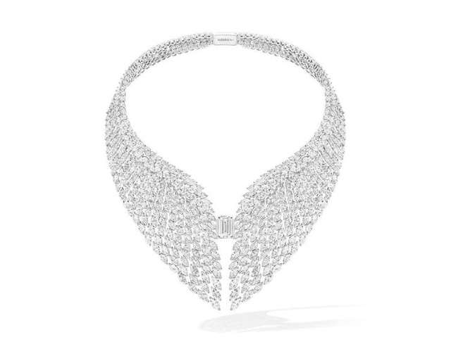 The High Jewelry Bright Falcon Necklace from the 'Once Upon a Time' collection.