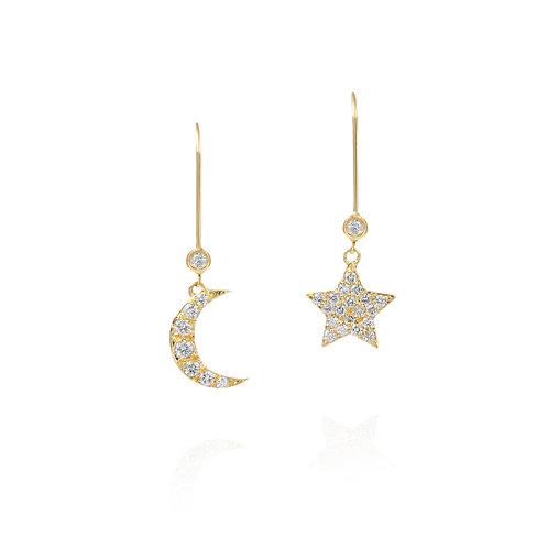 Night Sky Drop Earrings